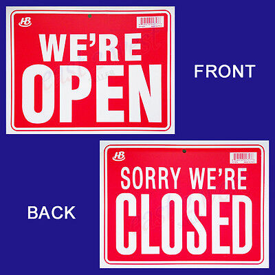 1 Sign In Front Were Open In Back Sorry Were Closed Flexible Plastic 9x12