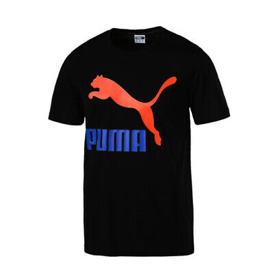 Puma Classic Mens Logo Graphic Tee Casual Top T-Shirt Black 576321 66 A57B