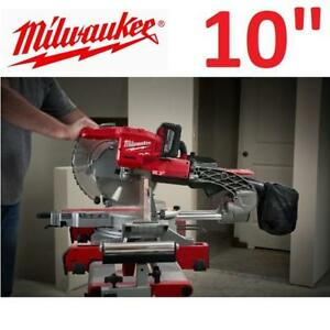 "NEW MILWAUKEE M18 9.0AH MITER SAW 2734-21HD 193654592 18V 10"" CORDLESS DUAL BEVEL SLIDING COMPOUND MITER SAW KIT"