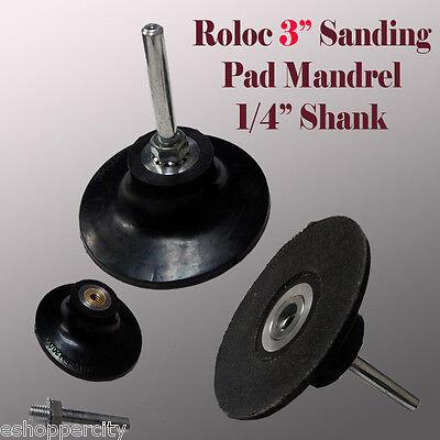 3 Roll Lock Roloc Type Sanding Polishing Disc Mandrel Arbor Holder Type R 14