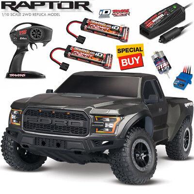 Traxxas 2017 Ford F-150 Raptor Slash 1/10 Truck Black RTR W/ Extra NiMh Battery