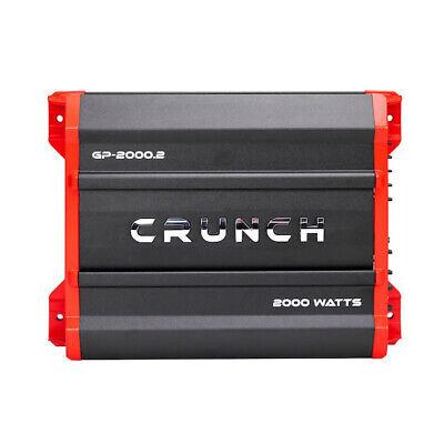 Crunch GP-2000.2 2000 watts, 2 canais, amplificador de áudio para carro, amplificador estéreo com ponte