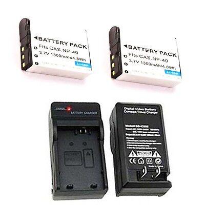 2X LB-060 Battery + Charger for Kodak PIXPRO AZ522 AZ521 AZ501 AZ421 AZ362 AZ361