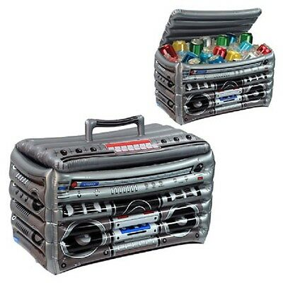 1980's / 80's Decade Theme Party Supplies INFLATABLE BOOMBOX CAN DRINK COOLER
