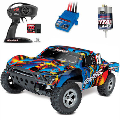 Traxxas 58024 1/10 Slash 2WD Short Course Truck Rock N Roll RTR w/ TQ Radio