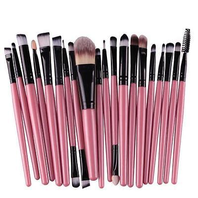 20 pcs/set Makeup Brush Set tools Make-up Toiletry Kit Wool Make Up Brush Set