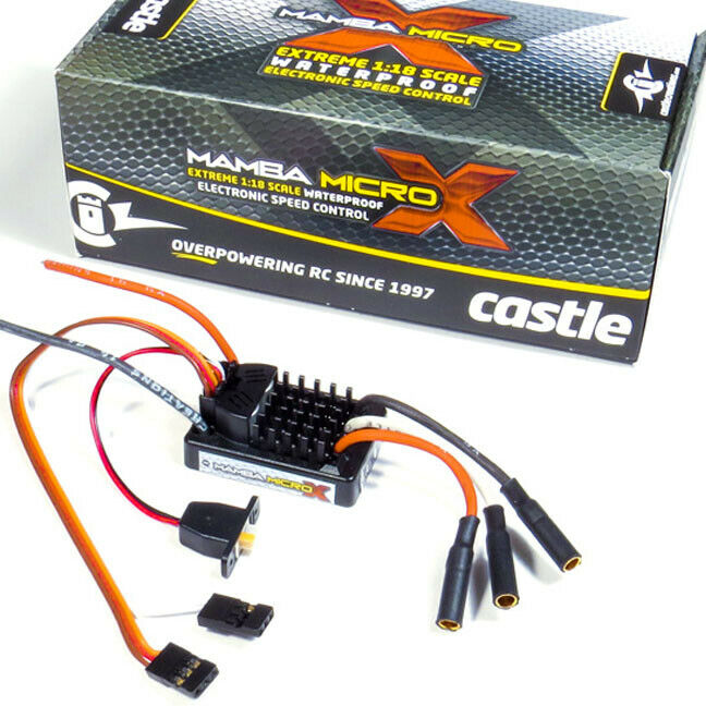 Castle Creations 1/18 Mamba Micro X Waterproof ESC / Electronic Speed Control