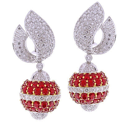 Van Cleef & Arpels Ruby and Diamond Earrings