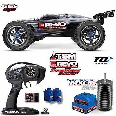 Traxxas 56086-4 1/10 E Revo Brushless Monster Truck 4WD TSM Silver RTR w/ TQi