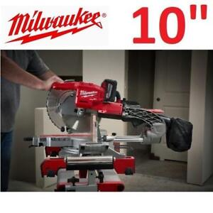 "USED MILWAUKEE COMPOUND MITER SAW 2734-21HD 209749878 10"" DUAL BEVEL SLIDING M1 FUEL POWER TOOL"