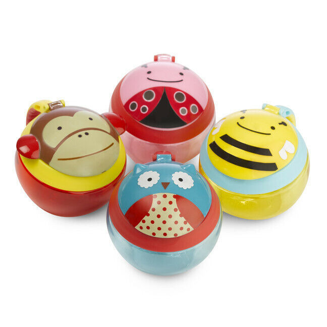 Pack of 3 Skip Hop Zoo Snack Cups Baby feeding cups with a flip lid Baby