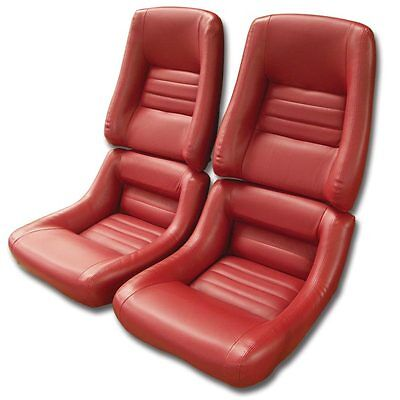1979 1980 1981 1982 Corvette Leather Like Seat Covers. Complete Set