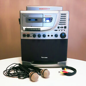 Karaoke System Singing Machine with Microphones CD Cassette