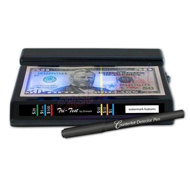 Drimark Counterfeit TRI-TEST Portable Detector Black 351TRI with Pen - Brand New