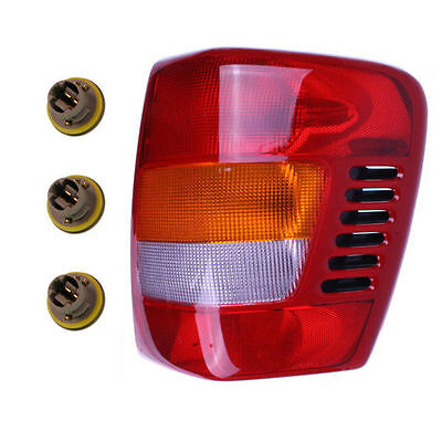New Right Tail Light Assembly with Sockets & Bulbs Fit 99-04 Jeep Grand Cherokee