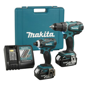 LXT220 Combo 18V Makita drill impact batteries 3Ah chargeur case