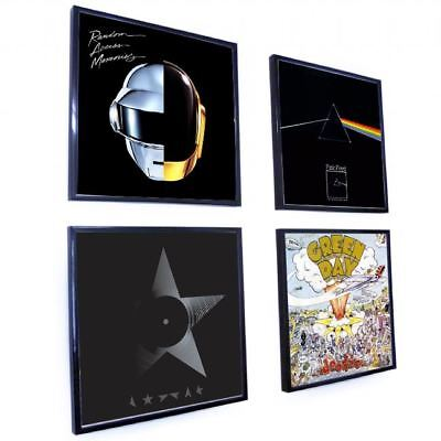 "Vinyl Frame Wall Album Art Display Frame for LP Record Cover Sleeve 12"" Black"