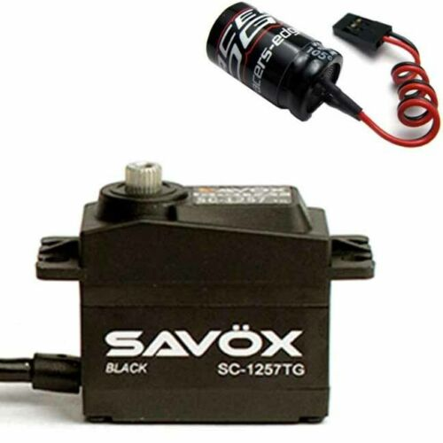 Free Aluminium servo horn Black Savox SC-1258TG-BE Coreless Digital Servo Black