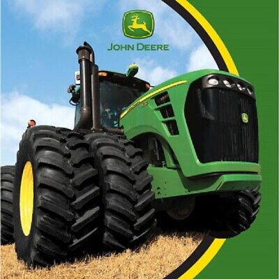JOHN DEERE Tractor Party Supplies LUNCH DINNER NAPKINS (Birthday, Retirement) - Tractor Birthday Supplies