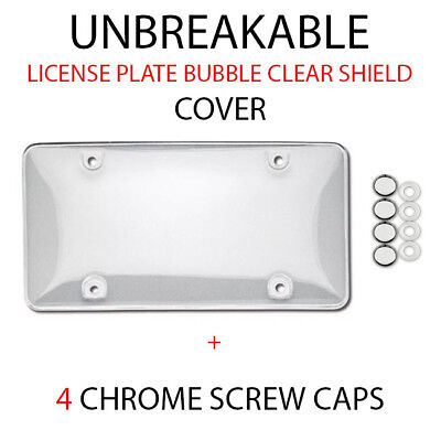 UNBREAKABLE CLEAR BUBBLE LICENSE PLATE TAG HOLDER FRAME BUMPER SHIELD COVER - Unbreakable Bubbles