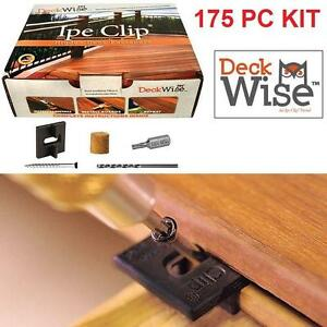 NEW DECK WISE HIDDEN DECK FASTENERS IPE CLIP - 175 PIECE KIT - DECK BACKYARD OUTDOORS 100105221