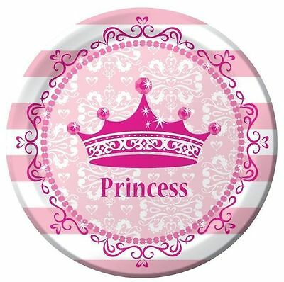 Pink Princess Royalty Dinner Plates - Birthday Party Supplies