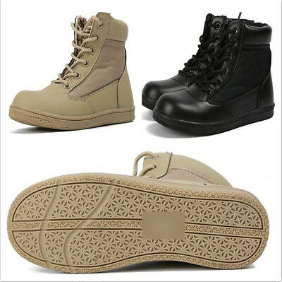 Kids Child US Army SWAT Tactical Combat Boots Boys Girls Military Outdoor Shoes](Boys Military)