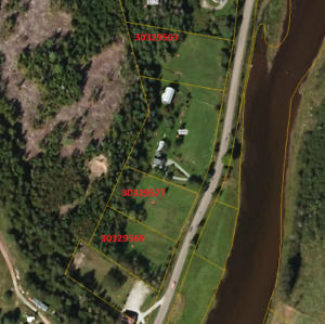 Building lots on Hammond River with water frontage