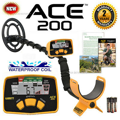 NEW Garrett ACE 200 With WATERPROOF COIL And ** LATEST TECHNOLOGY **