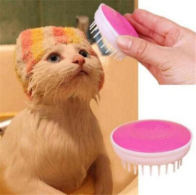 FD3255 Pet Bath Brush Scalp Body Massage Needle Clean Brush Dog Cat Comb x1PC ☆ ()