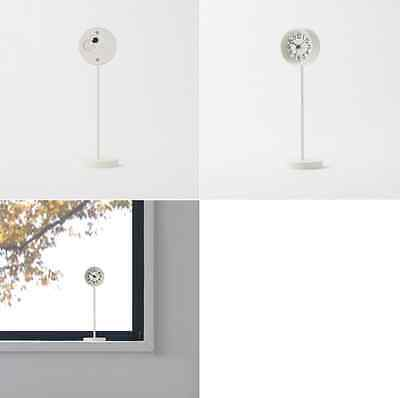 "New MUJI Mini ""Clock of Park"" White Table Clock Quarts Small Stand Clock F/S"