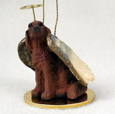 Irish Setter Ornament Angel Figurine Hand Painted