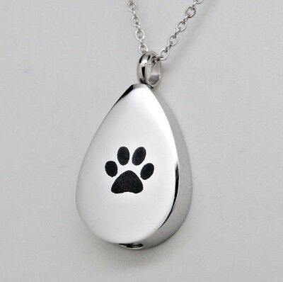 Tear Ashes Holder Jewelry for Dog or Cat || Engraveable Memorial Keepsake