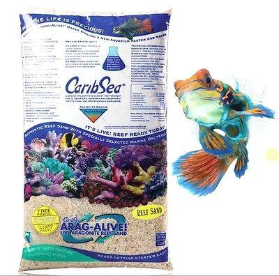 CaribSea Live Aragonite Fiji Pink Reef Aquarium Sand 10lbs 0.5-1.5mm Grain Size