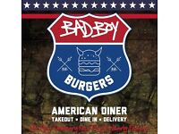 Bad Boy Burgers Recruiting for Full Time Chef and Full Time Delivery Driver