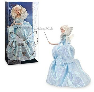 """Disney Store Fairy Godmother Film Collection 11""""  Doll Live Action Cinderella"""