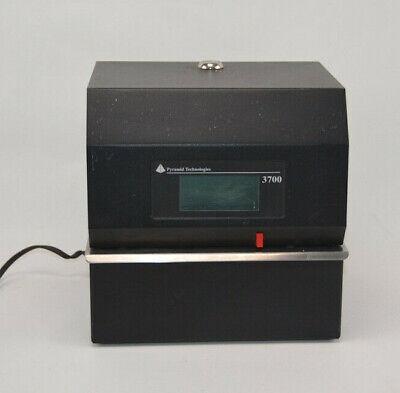 Pyramid Technologies Heavy Duty Steel Time Clock 3700 - Power Tested