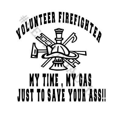 Volunteer Firefighter Decal (Volunteer Firefighter Vinyl)
