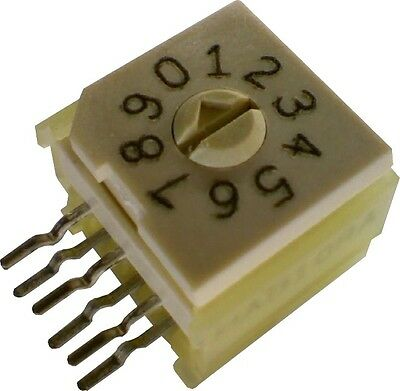 Lot Of 2 Grayhill Rotary Bcd Dip Switch Right Angle 94h Series 94hab10ra
