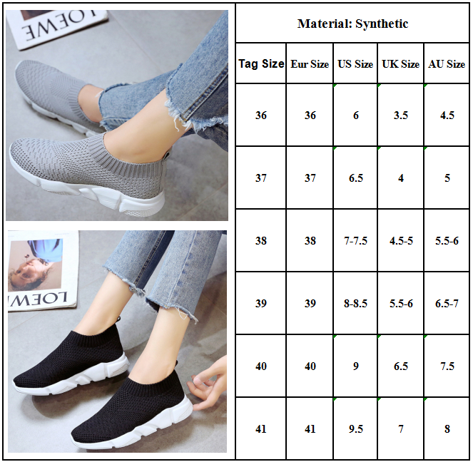 Women Sports Sneakers Lightweight Mesh Flats Breathable Walking Running Trainers 1