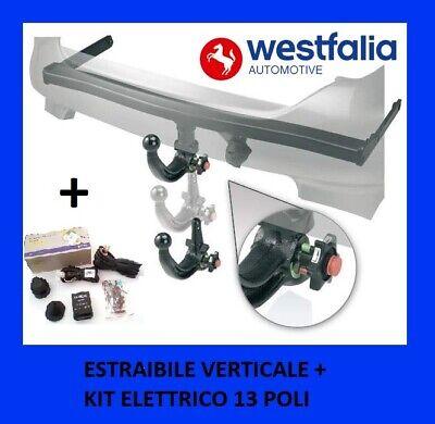Gancho de Remolque Jeep Renegade Extraíble Vertical Westfalia + Set Eléctrico 13