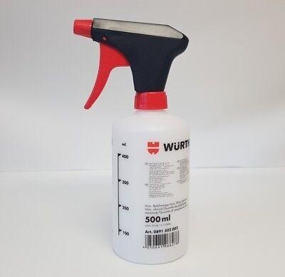 1x Würth 500ml Sprühflasche unbefüllt Handsprüher Pumpsprühflasche - 0891502002