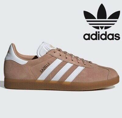 🔥 Adidas Originals GAZELLE Leather ® ( Men Sizes UK : 7 - 12 ) Ash Pearl Khaki