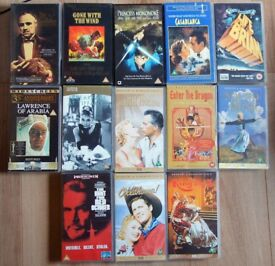 13 Classic Videos on VHS Cassette Tape