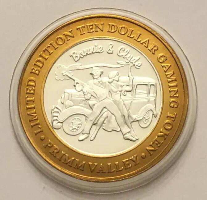 .999 Fine Silver Center Primm Valley Casino Chip $10 Token Limited Edition Rare