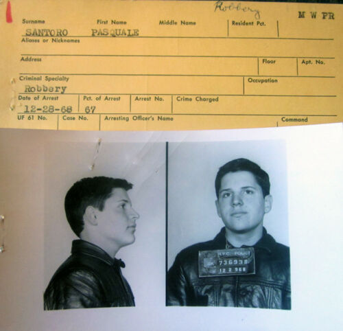 "1968 New York City MUG Shot Robbery Photo "" Baby Face """