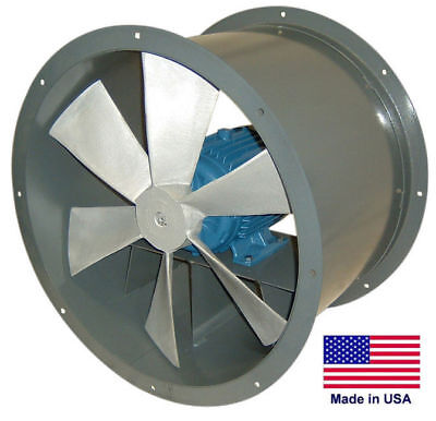 48 Tube Axial Duct Fan - Direct Drive - 3 Hp - 115230v - 1 Phase - 28600 Cfm