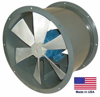 30 Tube Axial Duct Fan - Direct Drive - 12 Hp - 115230v - 1 Phase - 8980 Cfm