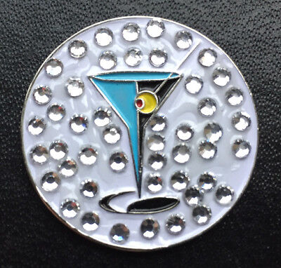 NEW Exquisite Ladies Crystal Martini Cocktail Bling Golf Ball Marker ](Exquisite Ladies)