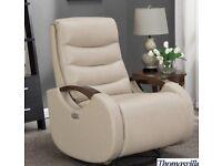 Thomasville Benson Leather Power Glider Recliner Chair